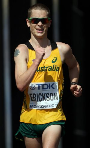 Olympic race walker Chris Erickson says team sports must expect to abide by the same drug rules as athletes in ...