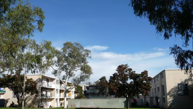 The Northbourne Avenue public housing flats are among the 11,500 ACT housing properties that racked up almost $3.5 ...