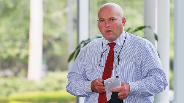 Horse trainer Peter Moody arrives at Racing Victoria to face the Racing Appeals and Disciplinary board.