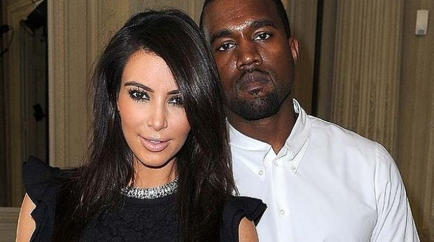 New parents: Kim Kardashian and Kanye West.