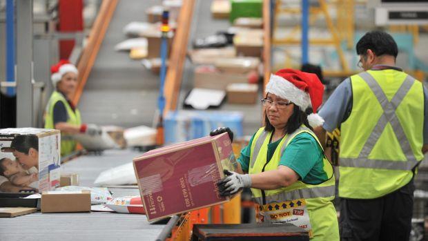 Australia Post delivered 30 million parcels in December.