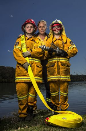 Cassandra Jane Williams (left), Brittany-Jane Williams (right) and mother Victoria Williams of Parkes all serve in their ...