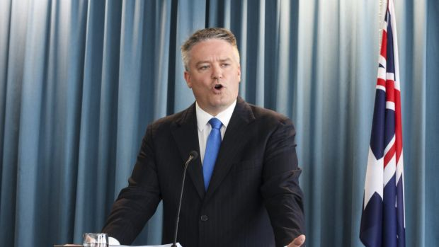 """On addressing bracket creep, Mathias Cormann says it is now a matter of what the government """"can sensibly afford""""."""