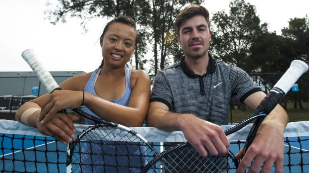 Alison Bai and James Frawley were beaten in the final of the Australian Open mixed doubles wildcard on Sunday.
