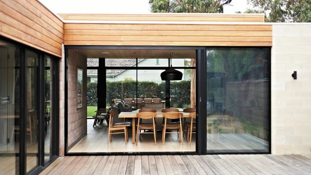Smart retreat: the property makes the most of the seasons.