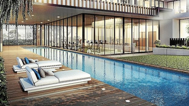 Included throughout will be three pools, two spas, sauna, steam room and three gyms.
