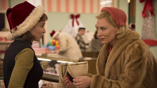 Cate Blanchett, right, and Rooney Mara are drawn together in <i>Carol</i>.