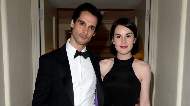 John Dineen and Michelle Dockery at a gala in London in November 2013.