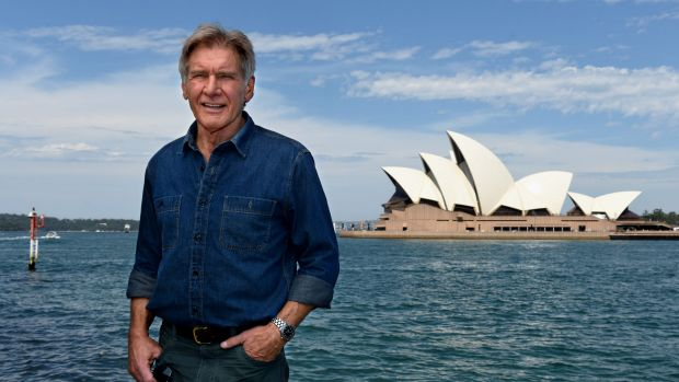 Harrison Ford in Sydney to promote <i>The Force Awakens</i>.