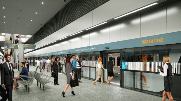 An artist's impression of the planned metro train station at Waterloo.