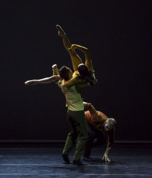 Sydney Dance Company's Frame of Mind, directed by Rafael Bonachela and featuring, clockwise, dancers David Mack, Chloe ...