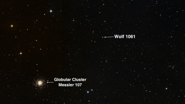 The position of Wolf 1061.