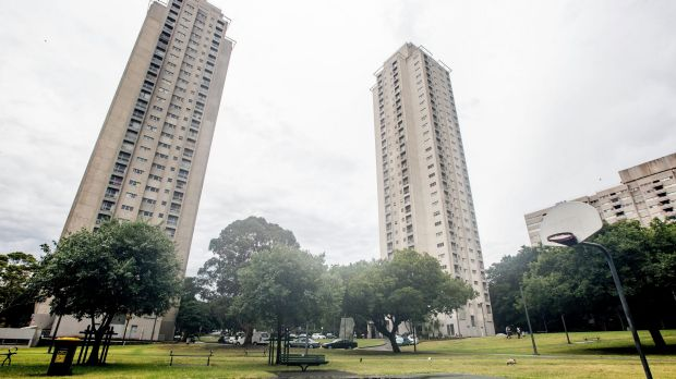 The Matavai tower, a public housing estate in Waterloo due to be redeveloped.