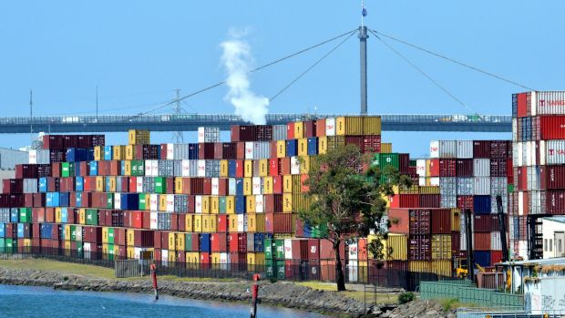 Shipping containers in Melbourne's inner west.