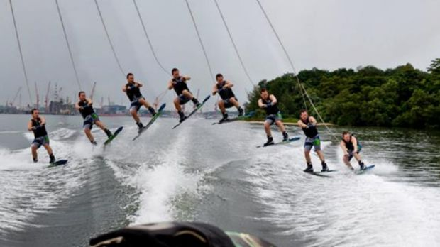 Gregory Jones doing what he loved most - wakeboarding.