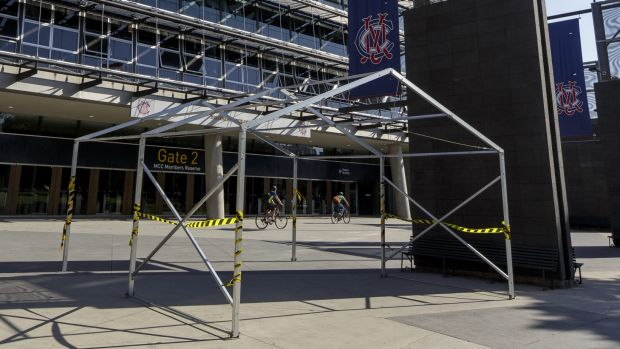 No change: The ACT government will not build a security fence, like the one at the MCG, at Manuka Oval or Canberra Stadium.