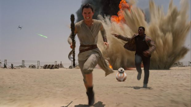 Daisy Ridley as Rey in <i>Star Wars: The Force Awakens</i>.