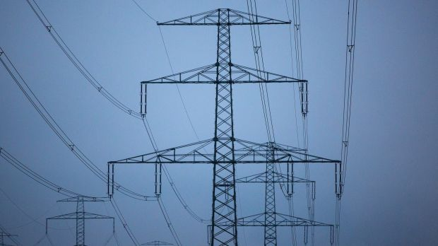 Pylons carry high voltage electricity cables in Europe.