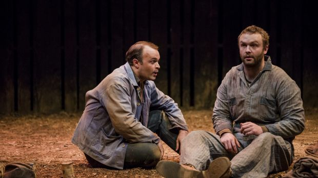 Of Mice and  Men: From left, Anthony Gooley as George, and Andrew Henry as Lennie.