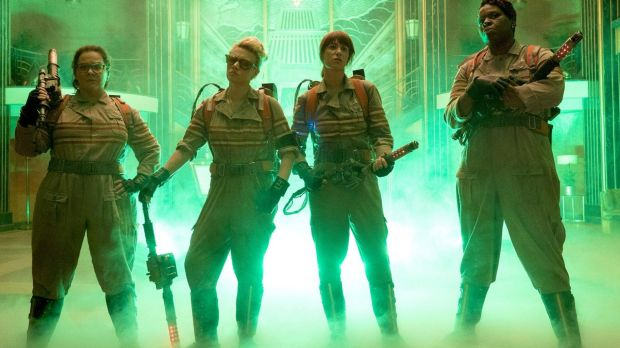 The first official photo from the new <i>Ghostbusters</i> movie.