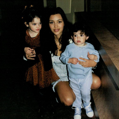 Kylie Jenner (R) provided this blast from the past with sisters Kendall (L) and Kim (C) on her Instagram account.