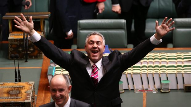 An econobabbler? Former treasurer Joe Hockey.