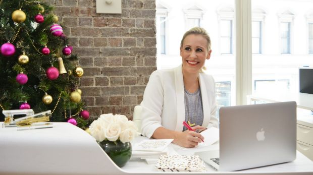Emma Isaacs, founder of Business Chicks has written 370 Christmas cards this year.