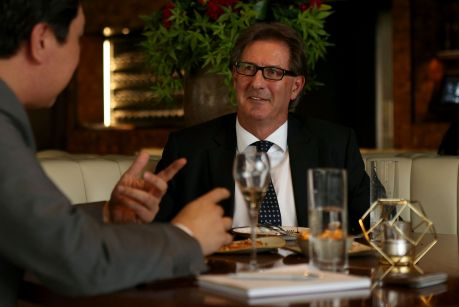 Lawyer and new president of the Melbourne Cricket Club Steven Smith at lunch at Dutchess.