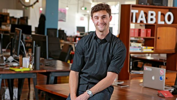 Nothing ventured: Ash Davies, 22-year-old founder and chief executive of book-publishing companyTablo.