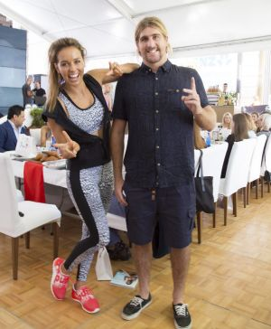 Party of the week: Sally Fitzgibbons with Wade Carmichael at her foundation launch.