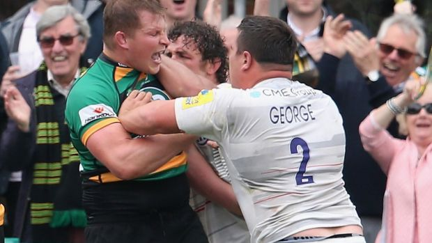 Controversial: Dylan Hartley, left, is not stranger to on-field trouble.