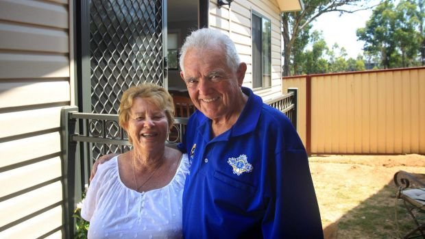 Trend setters:  Val and Paul Buckley who live in a granny flat on a property owned by their daughter.