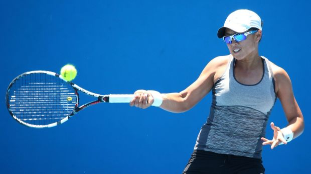 Canberra's Alison Bai was knocked out of the ACT claycourt international singles, but will play in the doubles on Wednesday.