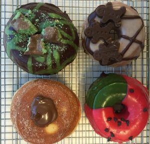 Doughnut Time treats: Mint To Be, Seth Rogen, Nutella and Melon DeGeneres.