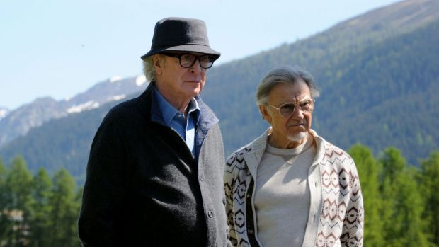 Michael Caine and Harvey Keitel in <i>Youth</i>.
