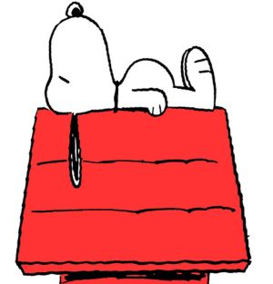 Snoopy the dog in the long-running comic strip Peanuts.