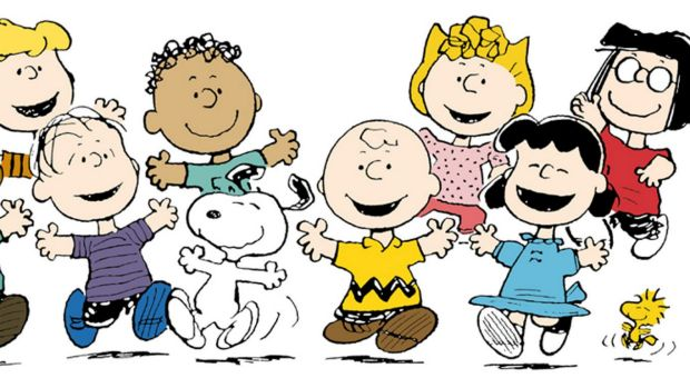Characters from Peanuts, by Charles Schulz.
