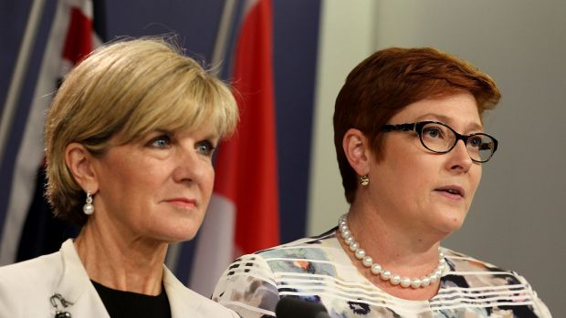 Foreign Minister Julie Bishop and Defence Minister Marise Payne.