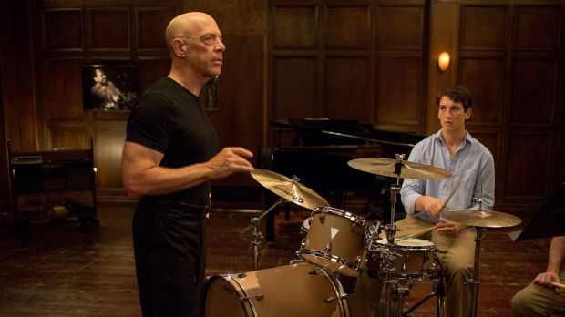 Terence Fletcher (J.K. Simmons), is a terrifying teacher and Andrew Neiman (Miles Teller) an ambitious young drummer in ...
