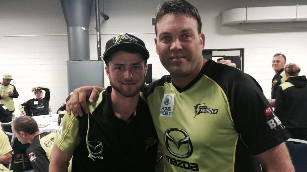 Cricket ACT junior Mac Wright got chance to chat with Sydney Thunder star Jacques Kallis.