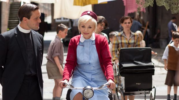 Tom Hereward (Jack Ashton) and Trixie (Helen George) in <em>Call the Midwife</em>, which is returning to the small screen.