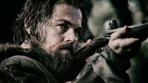 Leonardo DiCaprio is left for dead after a bear attack in <i>The Revenant</i>.