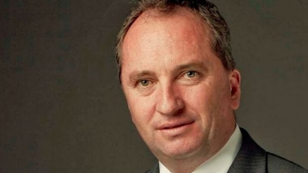Agriculture Minister Barnaby Joyce under the whip.