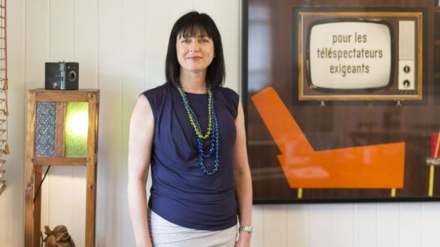 Hoodlum Entertainment's Tracey Robertson at the company's Brisbane offices: 'I'm a producer, that's what we do. We just ...