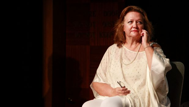 Whoops: Australia's richest person, Gina Rinehart, lost more than a quarter of her wealth as iron ore plunged by almost half.