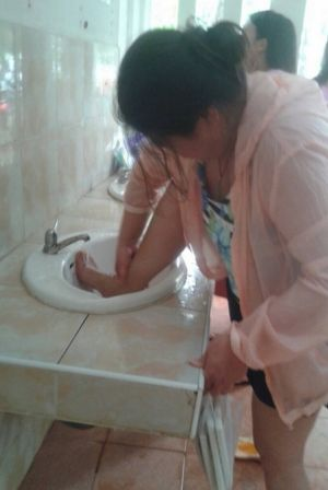 A woman was fined for washing her feet in a public sink in a national park in Thailand.