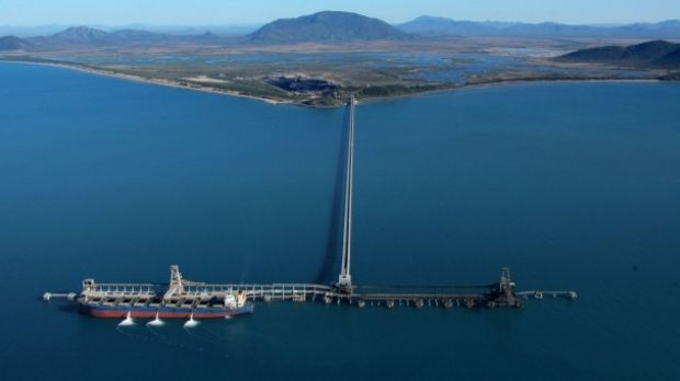 The Abbot Point coal terminal is located near Bowen in North Queensland