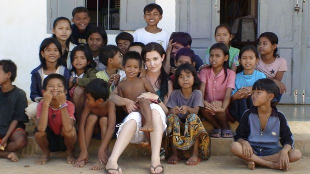 Tara Winkler (seen here with Cambodian children in 2007) set up her own orphanage in  Battambang, in the west of the ...