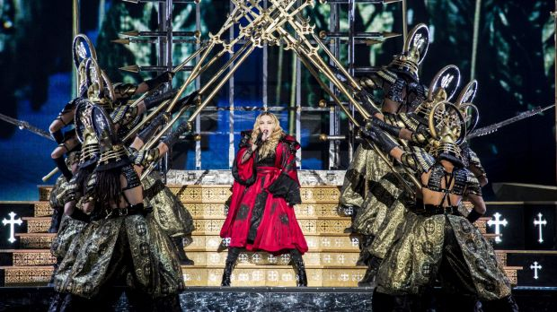 Madonna onstage for her Rebel Hearts tour in November.