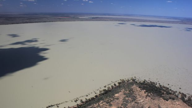 The Menindee Lakes in 2011 were full.